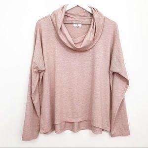 Lou & Grey • Soft Slouchy Cowl Neck Thin Tee Shirt